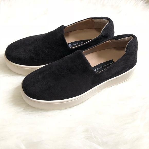 c2b2fc5bf82 Steve Madden• Hilda black fabric sneakers